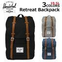 HERSCHEL SUPPLYハーシェル サプライ Retreat Backpack リトリート バックパックリュック リュックサック バックパック デイパック バッグ メンズ レディース B4 19.5L 10066プレゼント ギフト 通勤 通学 送料無料