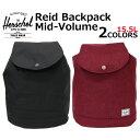 HERSCHEL SUPPLY ハーシェル サプライ Reid Backpack Mid-Volume レイド バックパック ミッドボリュームリュック リュックサック デイパック バッグ メンズ レディース A4 15.5L 10184プレゼント ギフト 通勤 通学