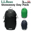 L.L. Bean LL Bean エルエルビーンStowaway Day Pack ストワウエー ディー パックバックパック リュックサック レディース キャンバス A4 502394プレゼント ギフト 通勤 通学 送料無料