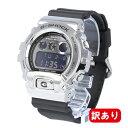 【訳あり】【BOXなし】【アウトレット】G-SHOCK カシオ Gショック CASIO 腕時計 メンズ GM-6900-1 シルバー×ブラック 三つ目