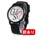 【訳あり】【アウトレット】【BOXなし】GUESS / ゲス V1021M1 メンズ レディース ユニセックス ORIGINALS BLACK LOGO ANALOG WATCH 腕時計 母の日