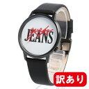 【訳あり】【アウトレット】【BOXなし】GUESS / ゲス V1022M2 メンズ レディース ユニセックス ORIGINALS BLACK LEATHER ANALOG WATCH 腕時計 母の日