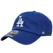 47 Brand/フォーティーセブンブランドLOS ANGELES DODGERS CLEAN UP/ロサンゼルスドジャース クリーンアップダッドハッツ/ベースボール メジャーリーグ 野球/キャップ/B-REBND12GWH-RY 帽子 メンズ/レディース ブルー プレゼント/ギフト/通勤/通学