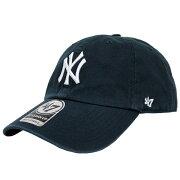 47 Brand/フォーティーセブンブランドNEW YORK YANKEES CLEAN UP/ニューヨークヤンキース クリーンアップダッドハッツ/ベースボール メジャーリーグ 野球/キャップ/B-RGW17GWS-HM-NY 帽子 メンズ/レディース ネイビー プレゼント/ギフト/通勤/通学