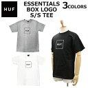 HUF ハフ ESSENTIALS BOX LOGO S/S TEE エッセンシャル ボックス ロゴ エス ティー Tシャツ カットソーティーシャツ 半袖 メンズ TS00507プレゼント ギフト 通勤 通学 父の日