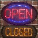 楽天まくらステーション イプノスLEDの電飾ボード/LEDオーバルフレーム/オープン&クローズ/LEDボード/OPEN/CLOSED/光る文字/店舗/バー/Bar
