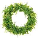 60cm レザーファーンミックス リース 直径60cm LEWR7543 インテリア 人口観葉植物 フェイクグリーン