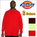 ショッピングディッキーズ 【全3色】DICKIES(ディッキーズ)dickies PLAIN PIQUE POLO SHIRT無地/プレーン 長袖(ポロシャツ)ポロ S M L LL 2XL 3L 4L