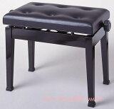 【its】大量在庫!激安&先着50本にピアノクロスもれなくプレゼント中!!超ベストセラー!座面幅57cm/6つボタンの定番ピアノ椅子 イトマサitomasa/AE(黒色)