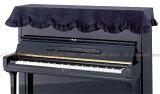 【its】黒のピアノに黒のカバー!シックなブラックベロア生地のピアノカバー(トップカバー)