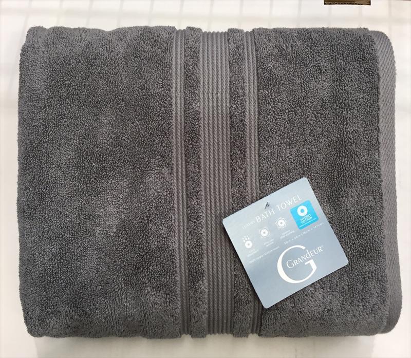 GRANDEUR グランドール【グレー】 バスタオル 76×147cm 綿100% 中空糸