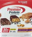 プレミア プロテインバー ピーナッツバター ダブル チョコレートクランチ ピーナッツバタークランチ味 各4本 12本入り 1本あたりたんぱく質30g グルテンフリー