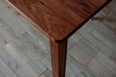 ダイニングテーブルリビングテーブル無垢国産ウォールナットウォルナットPCデスクパソコンデスク机150cmチェリーオークも有天然木木製角丸ナチュラル北欧ショコラティエダイニングテーブルウォールナット150日本製