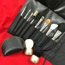 【送料無料】筆の里熊野の伝統工芸が生み出した高品質メイクブラシ10点セット【こちらはブラシセットのみの商品です】