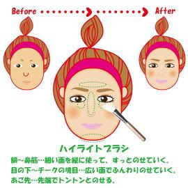 熊野筆メイクブラシハイライト・ブラシ/光オーラブラシ