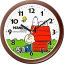 スヌーピー掛け時計M712A 4KG712MA06 茶メタリック