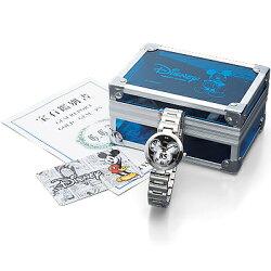 ミッキー85周年記念フェイスウォッチ天然ダイヤモンド腕時計ホワイト