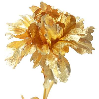 幸せを運ぶ純金 黄金のカーネーション【送料無料】【_包装】【_のし宛書】【_メッセ入力】 お花カーネーション 日頃の感謝をこめて