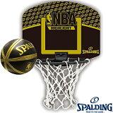 壁挂室内用小型公共汽车毛毯子球门 SPALDING NBA亮点乙烯基Mini Ball组套斯伯丁77-587Z[壁掛け室内用ミニバスケットゴール SPALDING NBAハイライト ビニールミニボールセット スポルディング77-587Z]