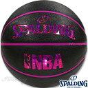 スポルディング バスケットボール6号 キラキラ ホログラム ブラックレッド ラバー SPALDING83-661J