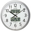 RHYTHM リズム時計 プログラムカレンダー403SR 4FN403SR19 チャイム時間設定 カレンダー付 電波掛け時計【送料無料】