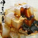 黒蜜きな粉角切ところてん和風デザートに餡が入ってない角切りにカットしたところてんのあんみつタイプですasu