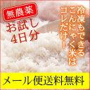 無農薬乾燥こんにゃく米4袋(4合分)。こんにゃくごはん こんにゃくダイエット米こんにゃくご飯[糖質制限 マンナンヒカリではありません]おにぎらずもOK【お試しポスト投函便4袋】乾燥こんにゃく米(ゼンライス) IKKOさんも使っている無農薬石井さんの乾燥 こんにゃく米 こんにゃくごはん ダイエット米ご飯にお使い下さい。※マンナンヒカリではありません 糖質制限ダイエットにも こんにゃく米 !おにぎらずもOK【送料無料】
