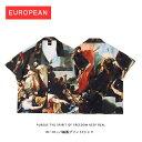 ショッピングオリジナルデザイン 中世ヨーロッパデザイン プリントシャツ 柄シャツ クラシックスタイル デザインシャツ 欧米 半袖 夏 サマー 中世ヨーロッパ コットン 印刷シャツ 肖像画 油絵 ストリート ゆったり ラウンドネック