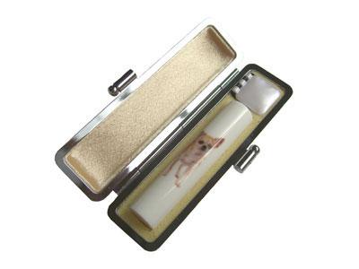 【メール便送料無料】かわいい印鑑 「セレクトインD-7チワワ15.0mm×60mm」 実印・銀行印サイズ