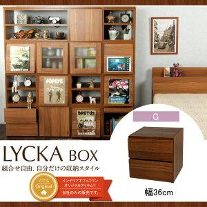 キューブボックス引き出しキューブボックス扉扉付きダークブラウン収納ボックスLYCKABOX(リュカボックス)2段北欧キューブボックス扉本棚収納シェルフ棚収納boxシンプルCUBEBOXキューブボックス送料無料