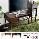 コンパクトなTVラック 1人暮らしや二台目のTVにぴったり TV台 テレビ台 幅80cm TVボード テレビボード 小さくても収納充実 オープンラックと引出し付き デッキ収納可能 TV台 テレビ台[代