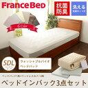 フランスベッド ベッドインバッグ ウォッシャブル セミダブルロング マットレス グッドスリーププラス