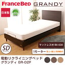 フランスベッド 電動ベッド(GR-02F) 1モーターフレーム マットレス付(RX-030) セミダブル