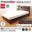 フランスベッド 電動ベッド(GR-04C 2モーターフレーム ワイヤレス マットレス付(RX-030) シ