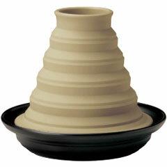 宮崎餐具 Tagine 鍋汽溫度蔬菜 Tagine 鍋 M JN1018 黑色的 2-3 人/乳霜 [fs01gm]
