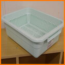Antibacterial processing plastic dish drainer basket M product size 37cm in depth X width 28.5* higher 13cm[fs01gm] [RCP] spr05P05Apr13fs2gm [marathon201305_daily]