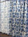 グランドローズ二級遮光カーテンと同柄ボイルレース4枚セット 100×230cm【日本製】