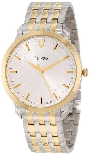 Bulova ブローバ メンズ腕時計 Men's 98A121 Classic two tone round Watch 10000円以上で送料無料