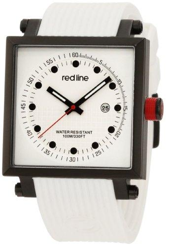 red line レッドライン メンズ腕時計 Men's RL-50035-BB-02-WHT Compressor 2 White Dial White Silicone Watch 10000円以上で送料無料