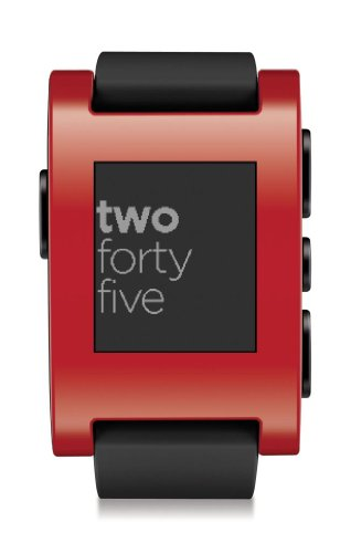 Pebble ペブル スマートウォッチ レッド Smart Watch for iPhone and Android Devices (Red) 10000円以上で送料無料クリアランス