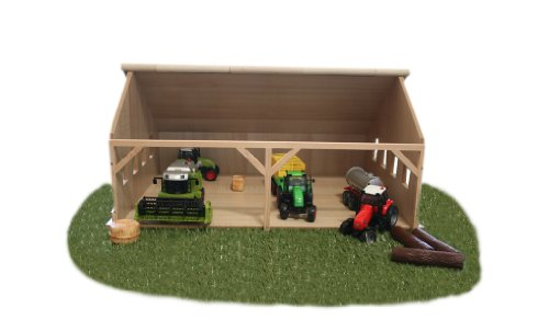 Kids Globe キッズグローブ ファーム Small Wooden Farm Shed for Tractors (Scale 1:32)