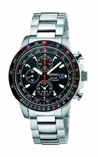 Seiko セイコー メンズ腕時計 Men's SSC007 Stainless Steel and Black Dial Watch 10000円以上で送料無料