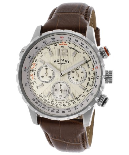 Rotary ロータリー メンズ腕時計 Men's Chronograph Beige Dial Brown Genuine Leather GS00120/31 10000円以上で送料無料