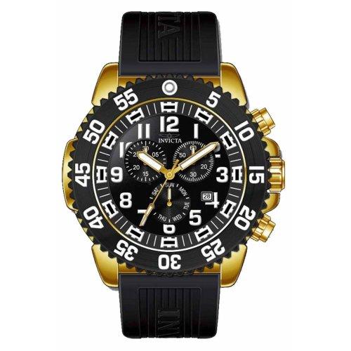 Invicta インビクタ プロドライバー メンズ腕時計 Pro Diver Chronograph Black Dial Gold-plated Mens Watch and Strap Set 12531 10000円以上で送料無料