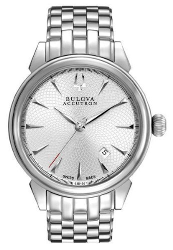 Bulova Accutron ブローバ アキュトロン メンズ腕時計 #63B156 Men's Gemini Swiss Made Stainless Steel Silver Dial Automatic Watch 10000円以上で送料無料