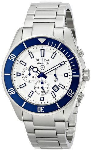 Bulova ブローバ メンズ腕時計 Men's 98B204 Analog Display Japanese Quartz White Watch 10000円以上で送料無料