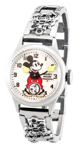 インガーソル ユニセックス ミッキーマウス 腕時計 Ingersoll Unisex IND 25832 Ingersoll Mickey Mouse 30's Collection Bracelet Mechanical Watch 【10000円以上で送料無料!】