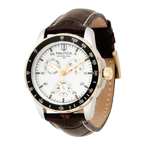 ノーティカ メンズ 腕時計 Nautica Men's N11502G Windseeker Multifunction Silver Dial Watch 【10000円以上で送料無料!】