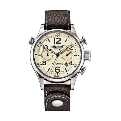 インガーソル メンズ 腕時計 Ingersoll Men's Automatic Watch IN1809CH with Leather Strap 【10000円以上で送料無料!】