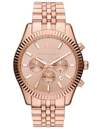 Michael Kors マイケルコース レディース腕時計 Oversize Rose Golden Stainless Steel Lexington Chronograph Women's watch #MK8319 10000円以上で送料無料